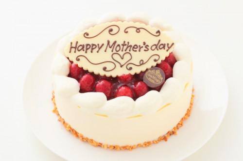 母の日 最高級洋菓子 シュス木苺レアチーズケーキ15cm 記念日プレートセット