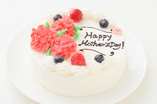 母の日メッセージ入りカーネーションケーキ 5号 15cm