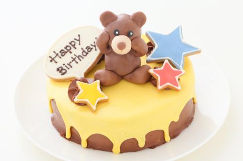 イエロードリップケーキ 人形付き 5号 15cm