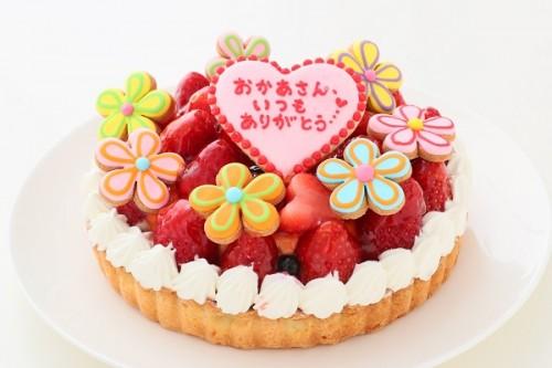 母の日 苺のタルト 花デコ 季節限定 5号 15cm