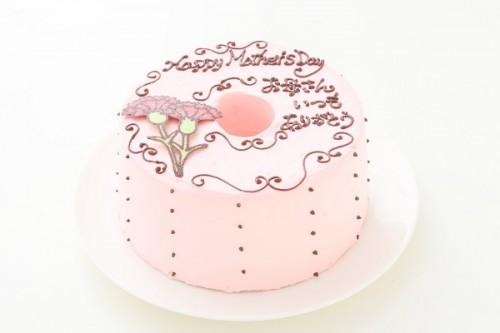 母の日 お手紙ケーキ カーネーション ピンク  直径17cm