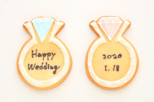 アイシングクッキー 指輪 2枚1セット