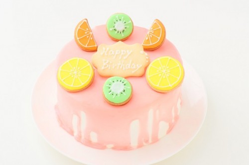 アイシングクッキー付きドリップケーキ 5号 15cm