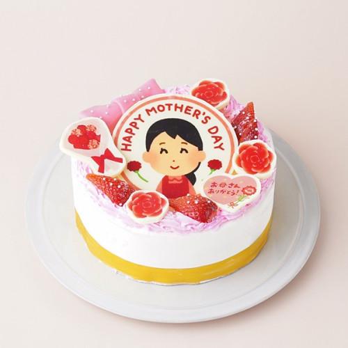 ポップアップフォト母の日ケーキ 5号 15cm