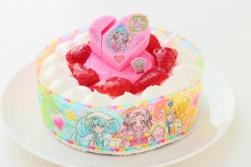 生デコレーションケーキ HUGっと!プリキュア 5号 15cm