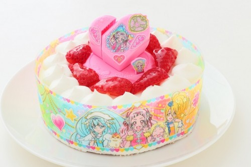 乳製品・小麦粉除去可能 HUGっと!プリキュア 生デコレーションケーキ  5号 15cm