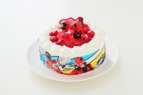 生デコレーションケーキ 快盗戦隊ルパンレンジャーVS警察戦隊パトレンジャー 5号 15cm