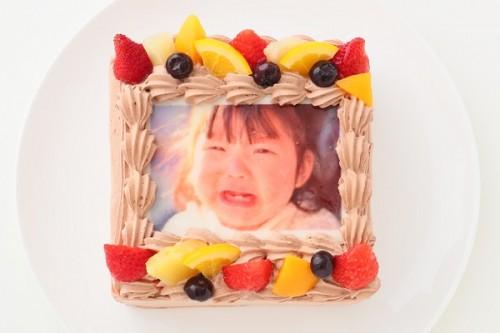 写真ケーキ グルテンフリーケーキチョコ 4号 12cm