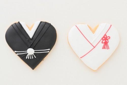 ウエディングアイシングクッキーセット 和装