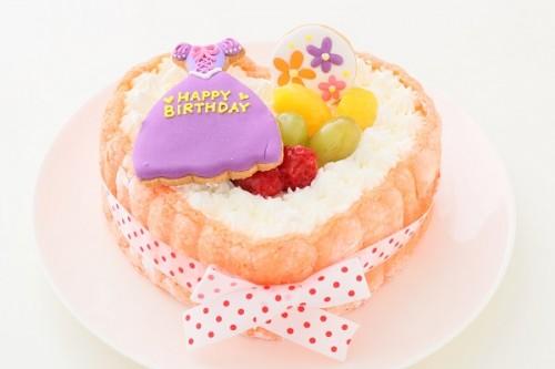プリンセスアイシングクッキ-デコ ピンクのビスキュイハ-ト 5号 15cm