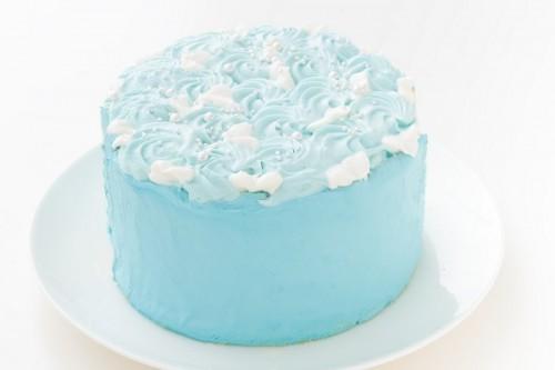 スマッシュケーキ ヨーグルト ファーストバースデーケーキ ブルー×ブルー 5号 15cm