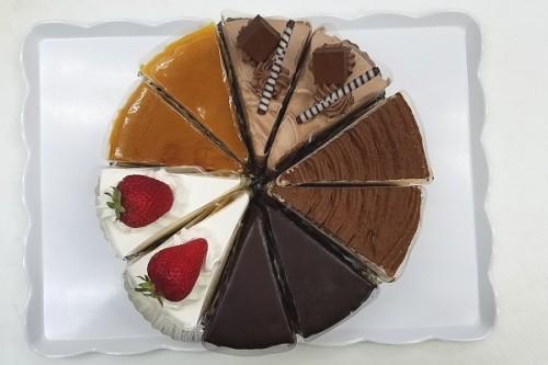 アソートカットケーキ 10カット(各5種類x2カット) 7号 21cm