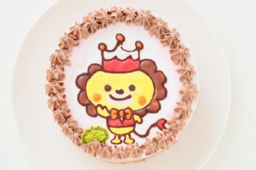 卵・乳・小麦・ナッツ類除去可能 米粉のふんわりショコラ イラストケーキ 5号 15cm