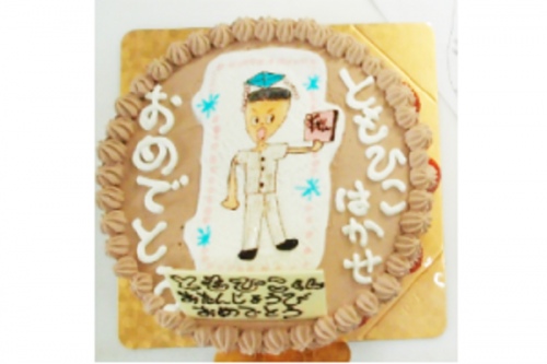 お絵かきケーキ チョコ生クリーム 5号 15cm