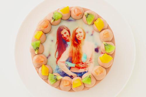 写真ケーキ チョコ生 丸型 5号 15cm