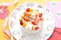 ポップアップイラストフォトケーキ 4号 12cm