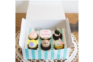 メッセージカップケーキ 6個セット