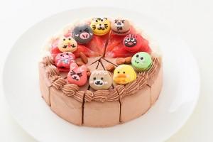 ショートケーキとチョコ生ケーキのハーフ&ハーフ 6号 10カット