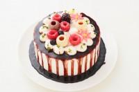 自分で仕上げる!!北海道産生クリームを使った生デコドロップケーキ! 5号 15cm