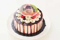 写真つき 自分で仕上げる!!北海道産生クリームを使った生デコドロップケーキ! 4号 12cm