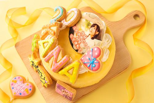 写真アイシングケーキ 半熟スフレチーズ 5号 15cm