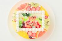 フルーツ輪切りフォトケーキ 4号 12cm