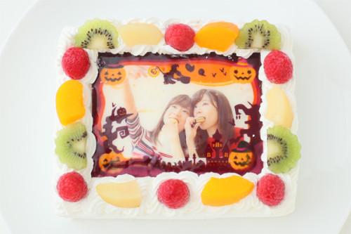 ハローウィンデコレーション写真ケーキ 4号 12cm