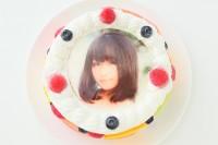 フルーツいっぱい写真ケーキ 4号 12cm
