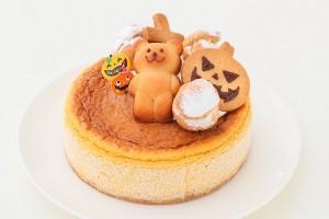ハロウィン かぼちゃのチーズケーキ 4号 12cm