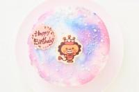 キャラクター最大2体まで パステルマーブルのレインボーキャラクターチョコプレートケーキ 5号 15cm