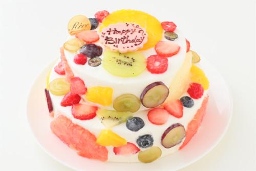 断面フルーツ2段ケーキ 5号 15cm