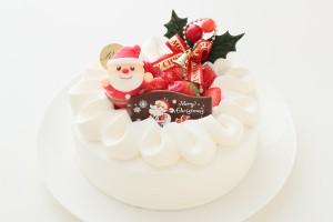 クリスマスケーキ2018 いちごのクリスマス生デコレーションケーキ 4号 12cm