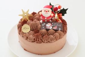 クリスマスケーキ2018 クリスマス生チョコデコレーションケーキ 4号 12cm