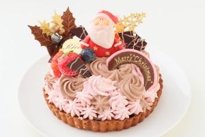 クリスマスケーキ2018 クリスマスいちごと生チョコレートのタルト 5号 15cm