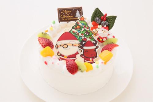 クリスマスケーキ2018 ポップアップフォトケーキ 豆乳クリーム(ノンアレルギー) 4号 12cm