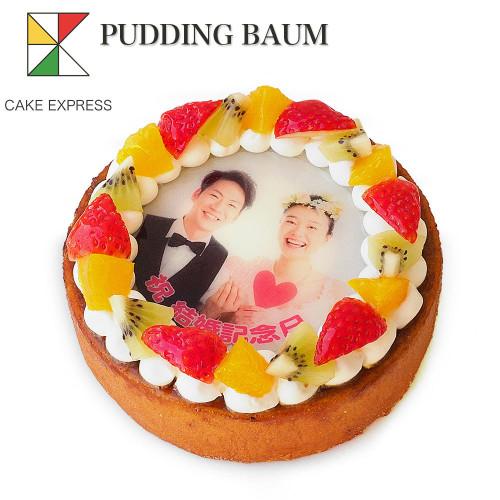 写真ケーキ プリンバーム デコレーション 5号