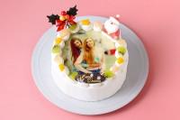 丸型写真ケーキ 5号 15cm クリスマスケーキ2020