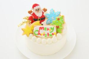クリスマスケーキ2018 アイシングデコレーション 純生クリームイチゴデコ 4号 12cm