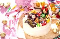 クリスマスケーキ2019 動物マカロンの生クリーム苺Xmas 4号
