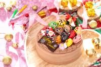 クリスマスケーキ2019 動物マカロンのチョコ生クリームXmas 4号 12cm