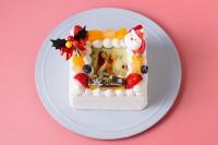クリスマスケーキ2018 角型写真ケーキ 4号 12cm