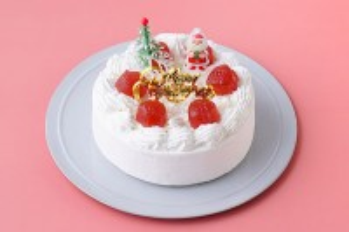 クリスマスケーキ2018 卵・乳製品・小麦粉・ナッツ除去 豆乳ホワイトクリームのデコレーション 5号 15cm