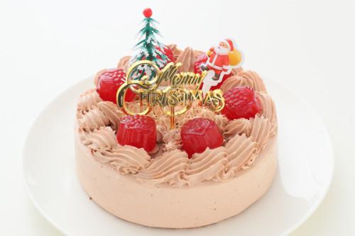 クリスマスケーキ2018 卵・乳製品・小麦粉・ナッツ除去 豆乳チョコクリームのデコレーション 5号 15cm