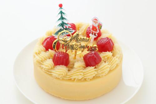 クリスマスケーキ2018 卵・乳製品・小麦粉・ナッツ・大豆除去 さつま芋クリームのデコレーション 5号 15cm