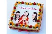 パーティースクエア 生クリーム 写真ケーキ  9号 28cm