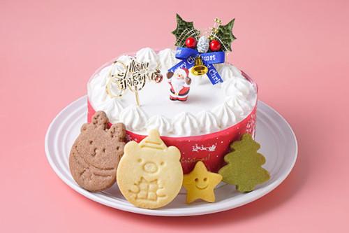 クリスマスケーキ2020 卵・乳製品・小麦除去可能 米粉の白いクリスマス 4号 12cm