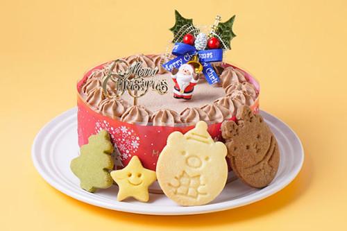 クリスマスケーキ2020 卵・乳製品・小麦除去可能 米粉のショコラクリスマス 4号 12cm