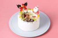 クリスマスケーキ2018 丸型写真ケーキ 4号 12cm