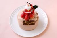 チョコ生デコレーションケーキ 4号 12cm クリスマスケーキ2020