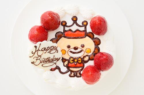 クリスマスケーキ2019 1日2台限定 イラスト1体のみ! キャラクター描き生クリーム苺デコレーション 5号 15cm